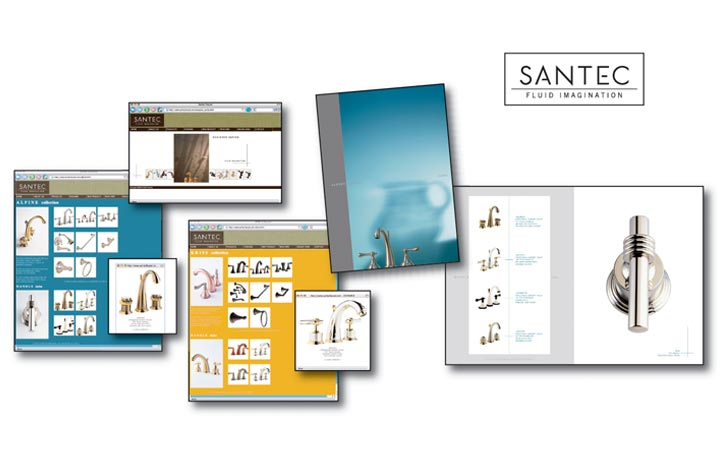 Examples of Santec Advertising Printed Copy