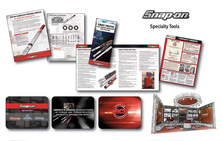 Snap-On graphics design and advertising print