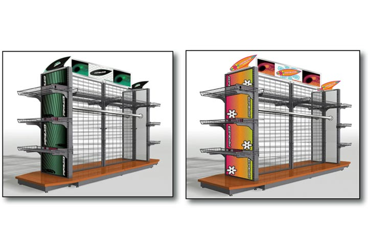 Product Display Shelving Section Image