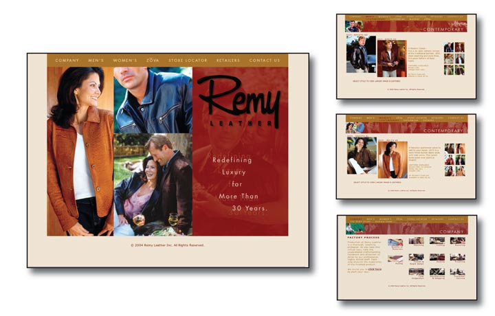 Remy Leather Apparel Website Design and Advertising